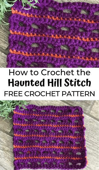 how to crochet the haunted hill stitch