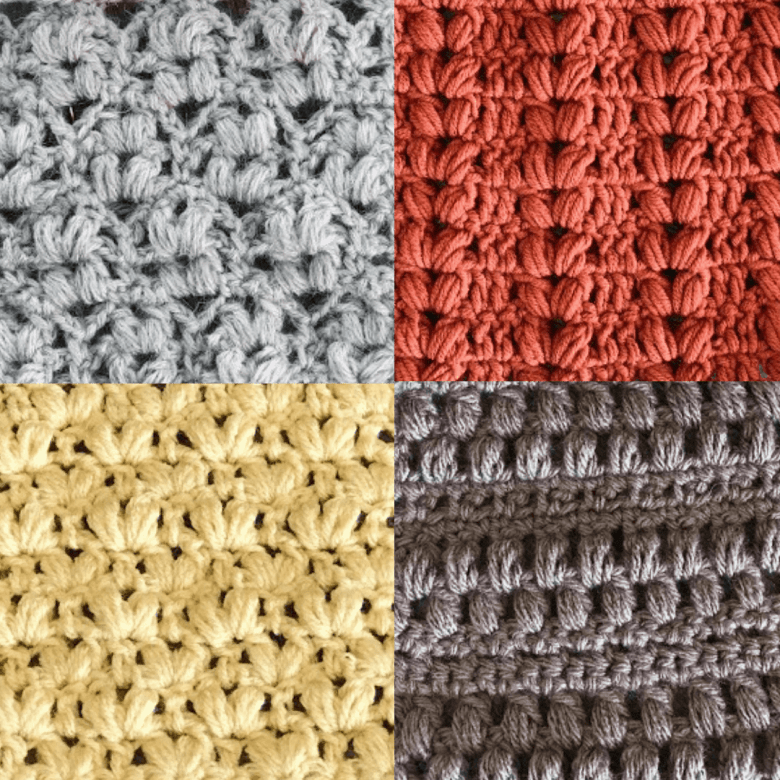 How to Crochet the Alternating Puff Stitch.