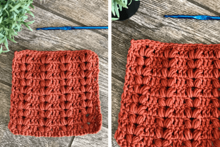 how to crochet the harvest stitch