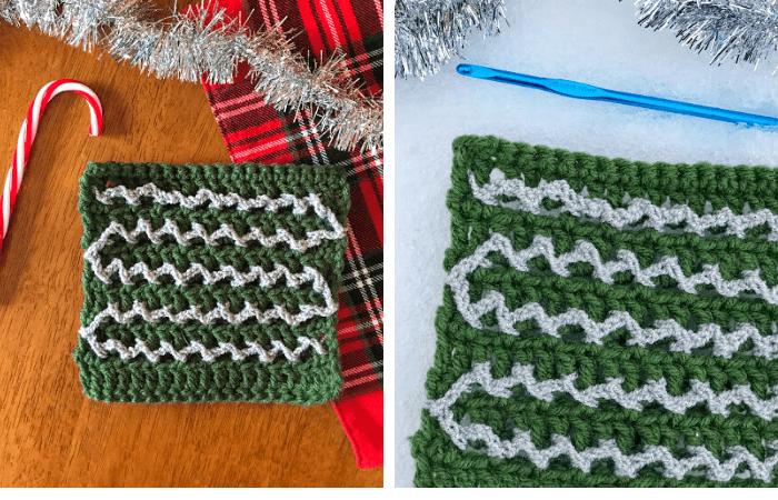 Textured Surface Crochet Tinsel Stitch