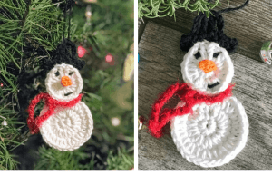 Snowman Ornament—Free Crochet Pattern