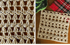 how to crochet the angel stitch