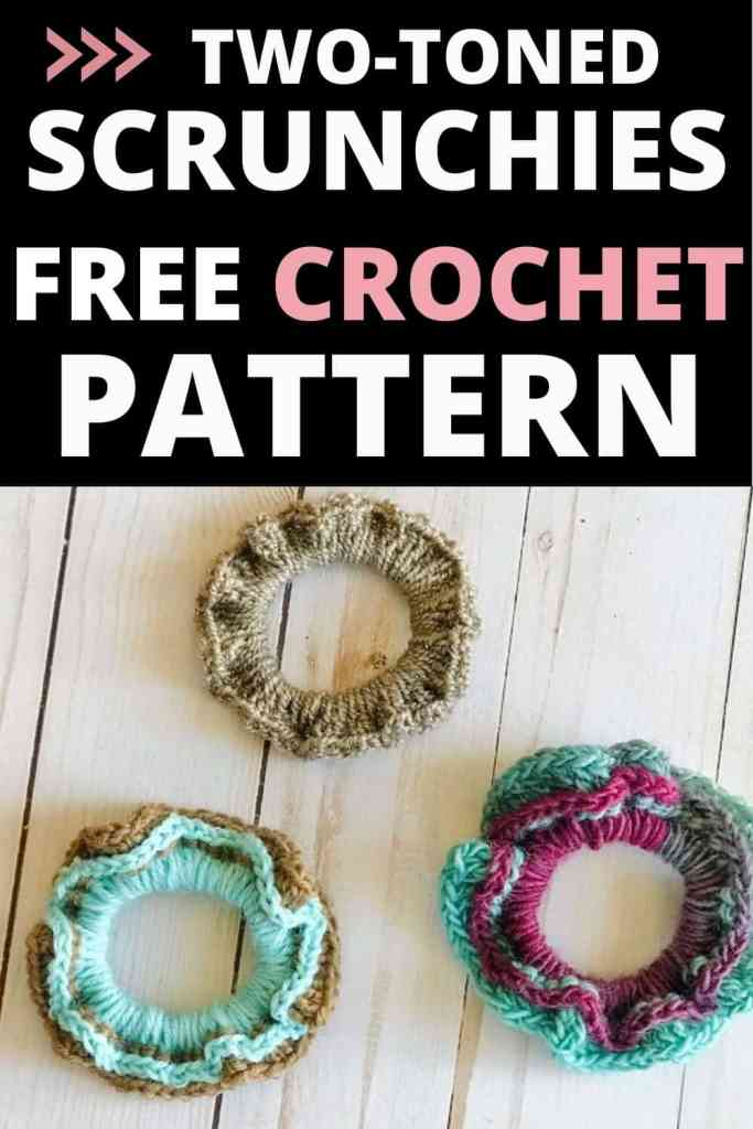 Two-Toned Crochet Scrunchie Pattern (Free & Easy!)