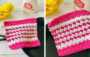 Crochet Washcloth Free Pattern (Easy & Colorful!)