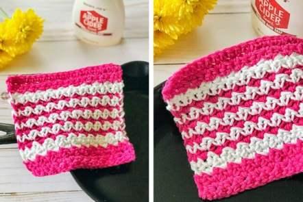 Crochet Washcloth Free Pattern (Easy & Colorful!)