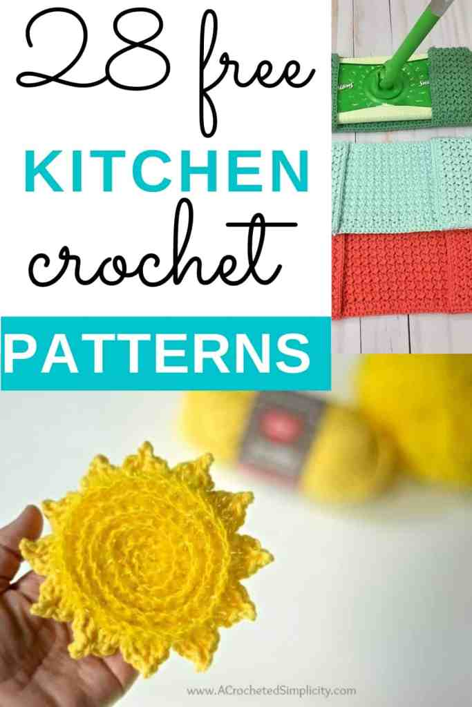 28 Free Kitchen Crochet Patterns - Use these easy kitchen crochet ideas!