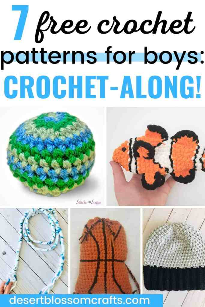 Crochet for Boys - 7 Free Crochet Patterns You Need to Make