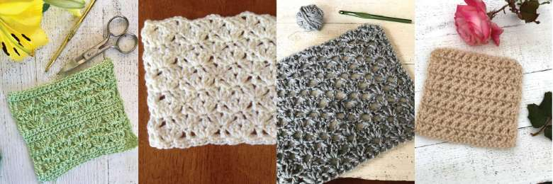 collage of suggested stitches