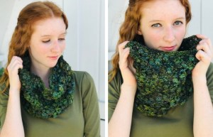 Crochet Cowl Pattern with Worsted Weight Yarn - Everglade Cowl