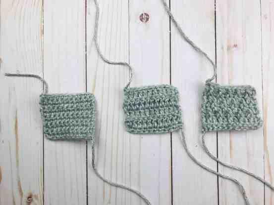 Alpine stitch compared to simple stitches