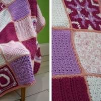 40 Crochet Blanket Square Patterns - The Friendship Blanket CAL