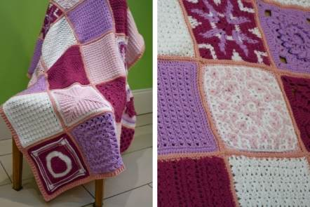 40 Crochet Blanket Square Patterns - Friendship Blanket