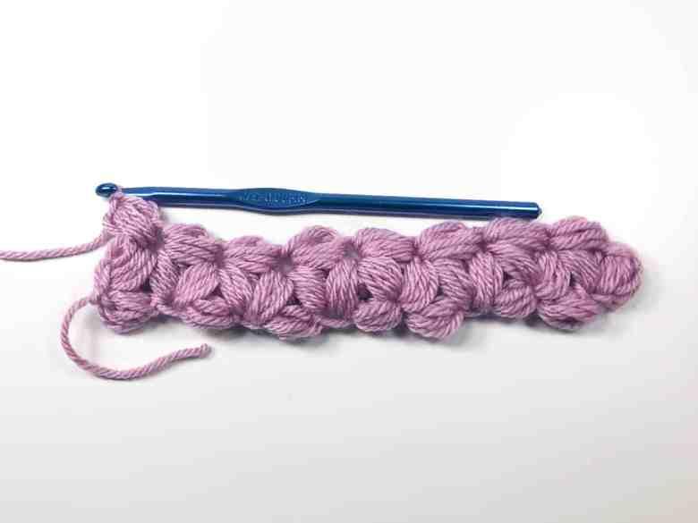 jasmine stitch row 1