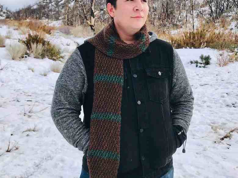 Scarf crochet gift for teenage guys