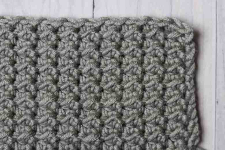 even moss stitch crochet