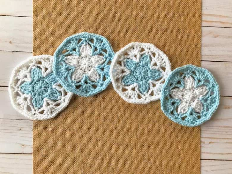 Lace coaster crochet pattern