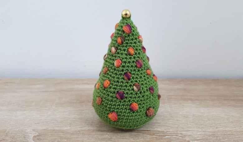 Crochet Bobble Christmas Tree Ornament