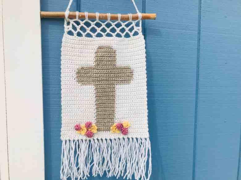 Easter Crochet Wall Hanging