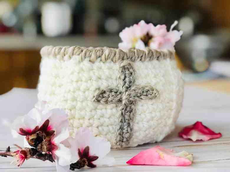 Cross Crochet Easter Basket - FREE Pattern
