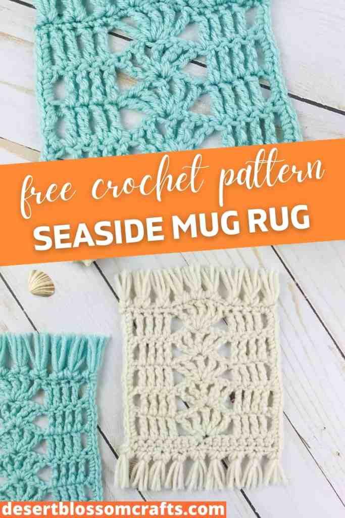 Seaside Mug Rug - FREE Crochet Pattern