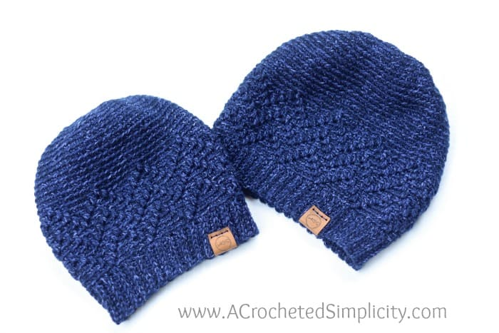 Men's crochet hat with worsted weight yarn