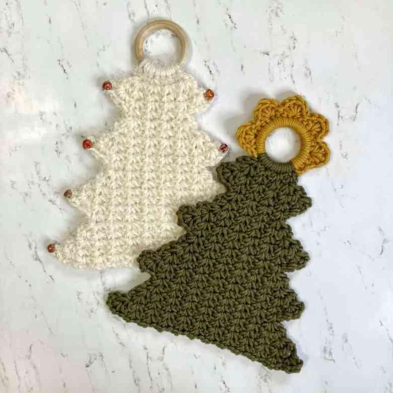 Crochet Christmas Tree Wall Hanging