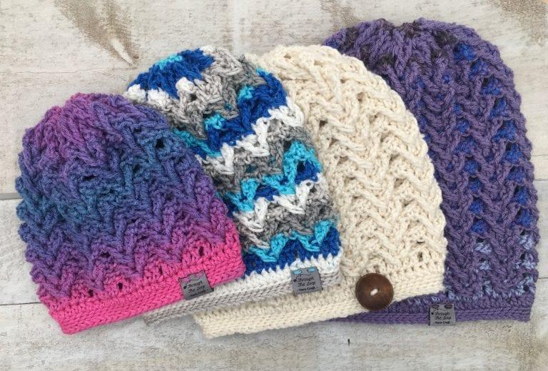 Textured Slouchy crochet hat