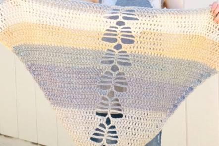 dragonfly shawl - bernat pop yarn pattern