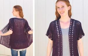 Crochet Summer Cardigan Pattern - Free in Sizes XS-3XL