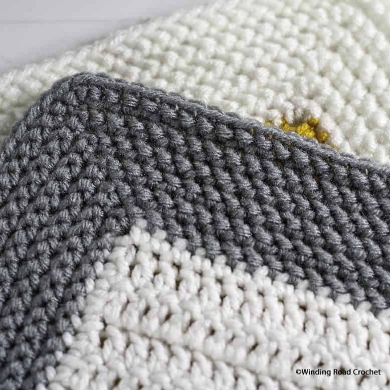 Wide Crochet Herringbone Border