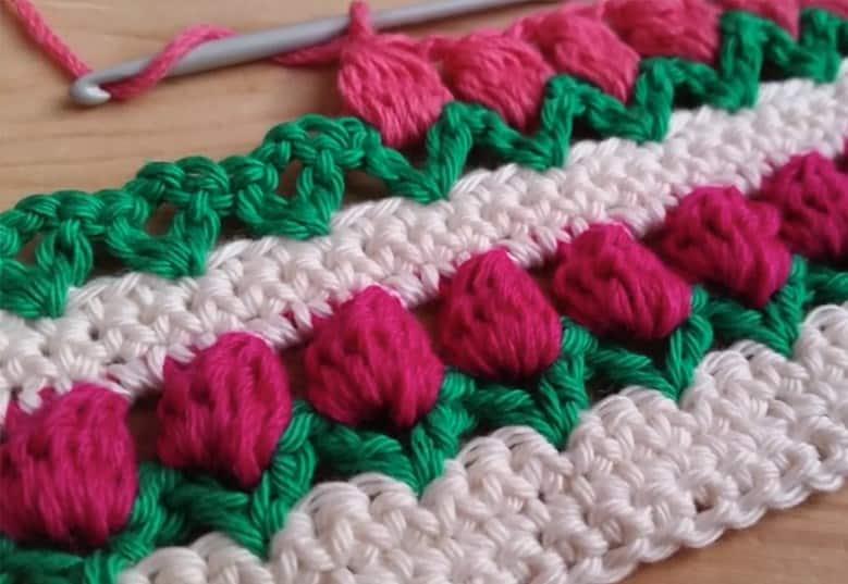 Tulip Crochet Border Pattern