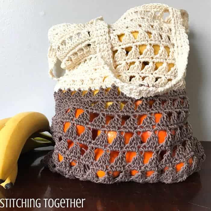 Crochet Grocery bag easy
