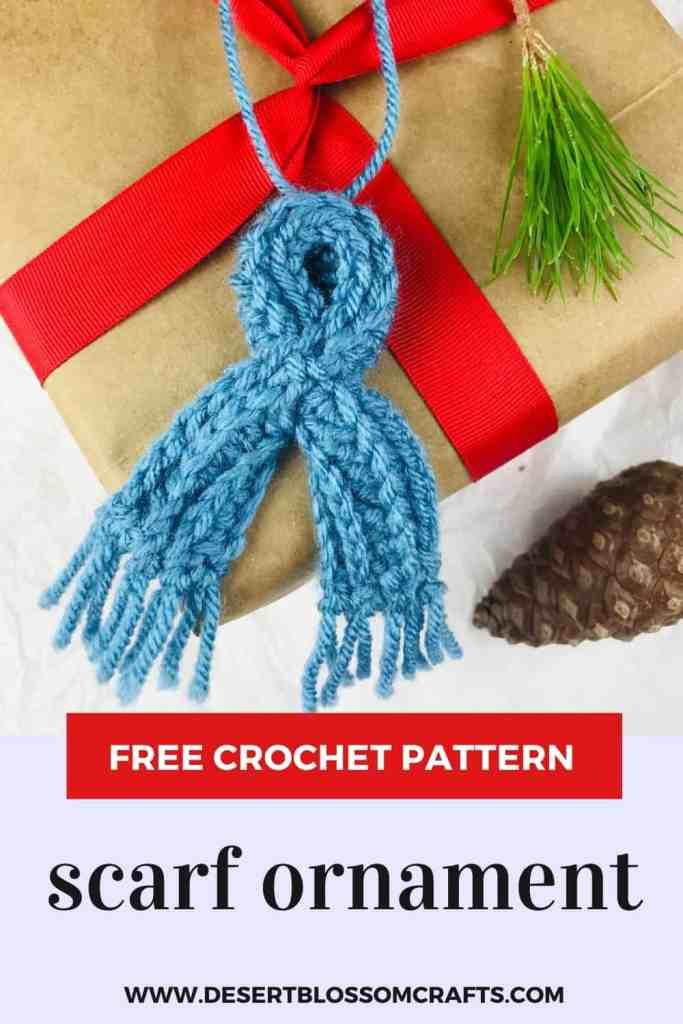 Mini écharpe en crochet pour ornements ou poupées