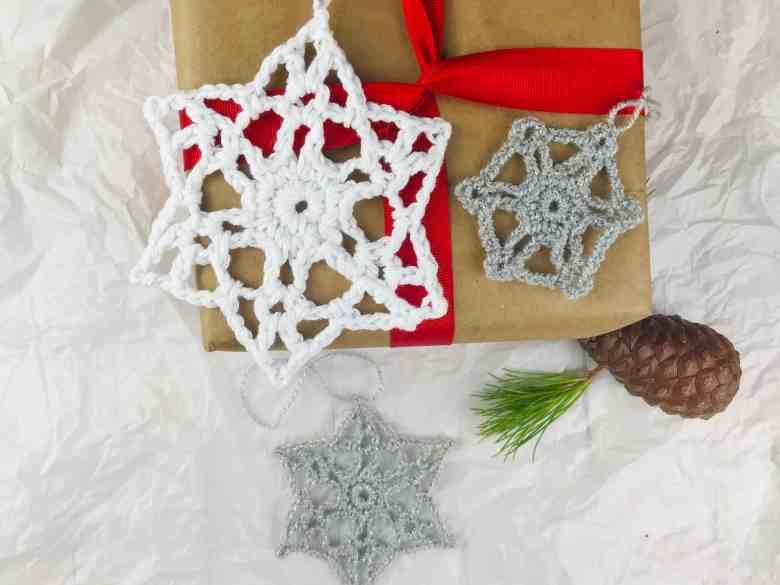 snowflake ornament crochet gift