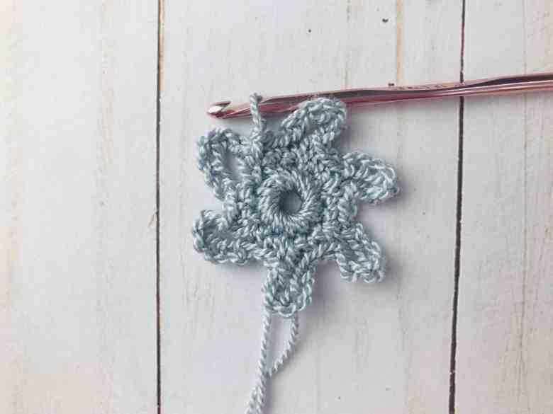 tutoriel flocon de neige au crochet tour 2