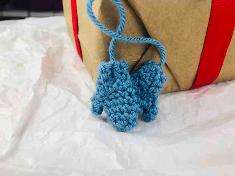 Mini Crochet Mittens Ornament