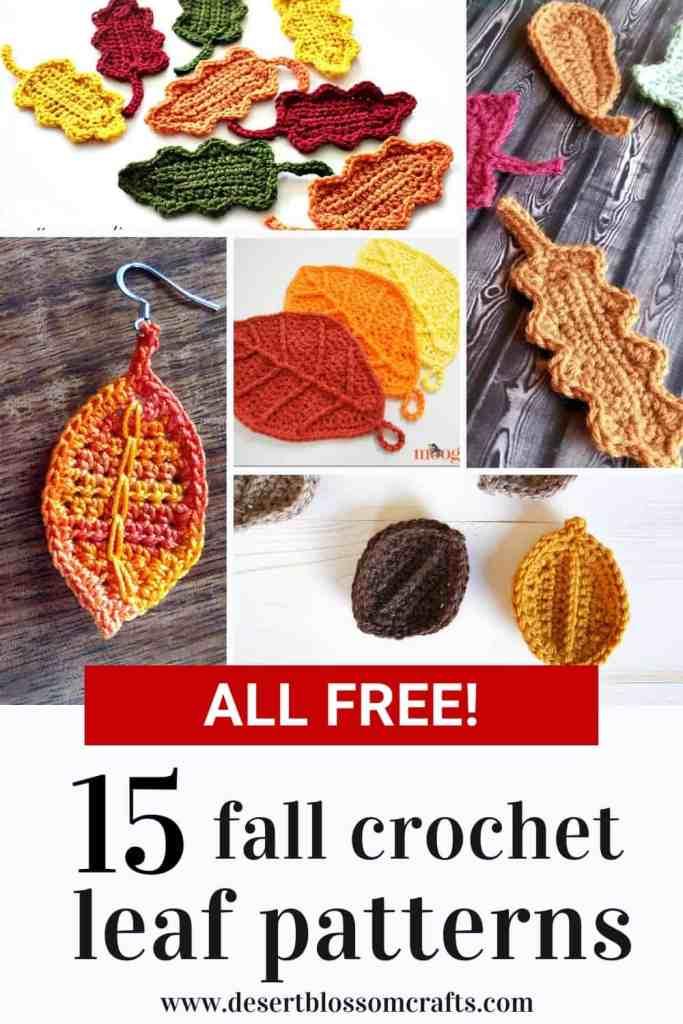 15 Fall Crochet Leaf Patterns - All FREE!