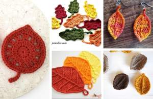 15 Best Crochet Patterns for Fall Leaves!