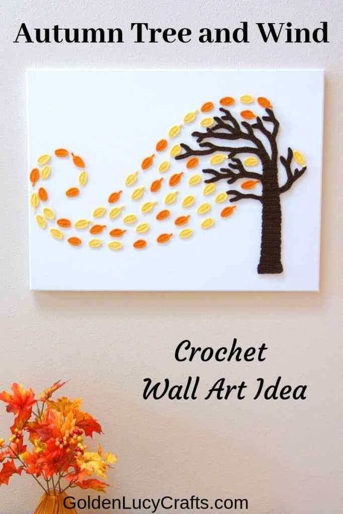 Crochet Fall Leaves Wall Decor