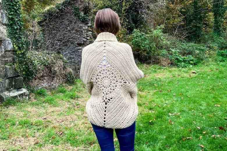 Dream Catcher Crochet Shrug with long sleeves