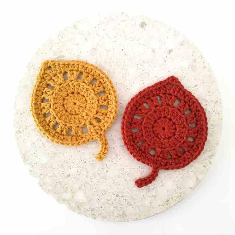 Fall Leaves Coaster Crochet Pattern