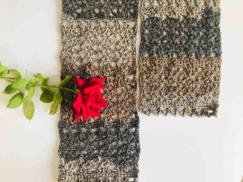 Rustic Lace Scarf Free Crochet Pattern