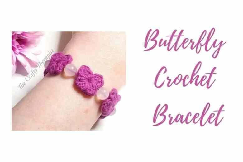 crochet bracelet butterfly