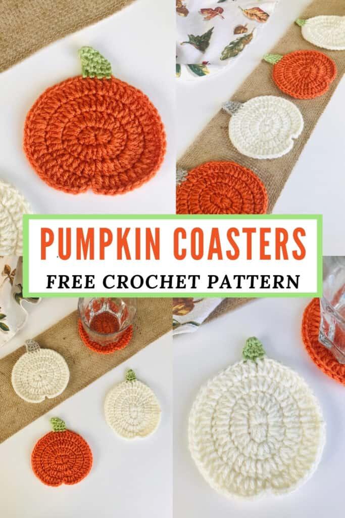 Crochet Pumpkin Coaster Pattern - Free & Easy