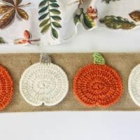 Free Crochet Pumpkin Coaster Pattern (2 Variations!)