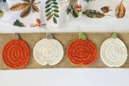 Free Crochet Pumpkin Coaster Pattern - 2 Variations