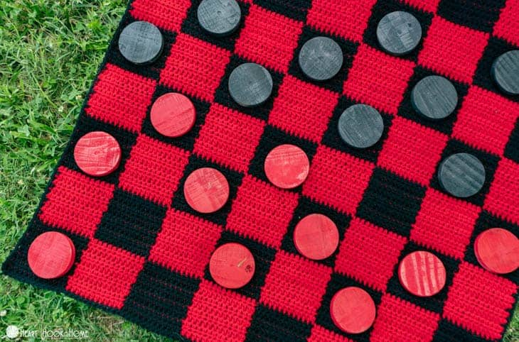 Crochet Checkers Game - Gift for kids