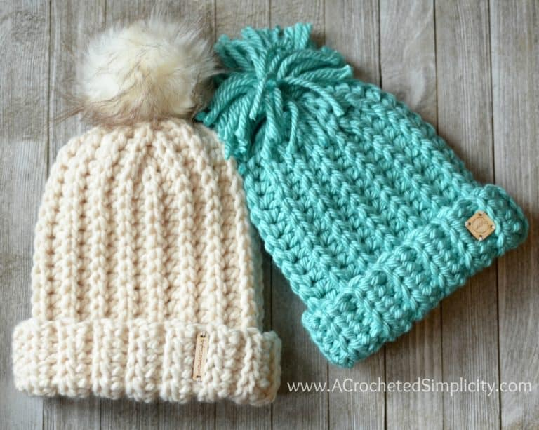 Wool Ease Thick & Quick hat pattern