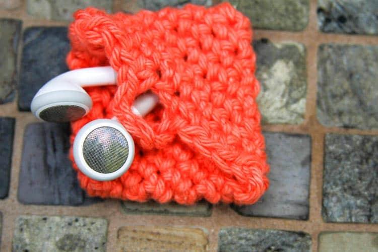 Crochet Earbud Holder - gift for friends