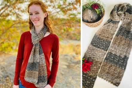 Rustic Lace Scarf - Free Crochet Pattern.